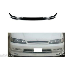 94 95 HONDA ACCORD MUG STYLE PU BLACK ADD-ON FRONT BUMPER LIP SPOILER CHIN