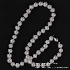Real Freshwater Cultured Pearl Necklace 8-9mm (Ball)