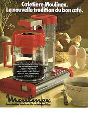 PUBLICITE ADVERTISING 054  1978  MOULINEX  cafetière  LA NOUVELLE TRADITION