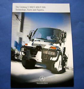 MERCEDES BENZ UNIMOG TRUCK Brochures  Pamphlets