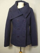 H&M blue/purple wool mix coat/jacket 12