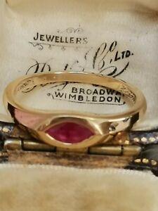 STUNNING Iliana 18 CT yellow GOLD RUBY AND DIAMOND style ring