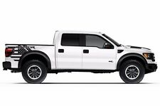 Vinyl Graphics Decal Wrap Kit for 10-14 Ford Raptor F150 USA RAPTOR Matte Black