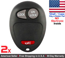 2x New Replacement Keyless Entry Key Fob Case For Chevy GMC Pontiac - Shell Only