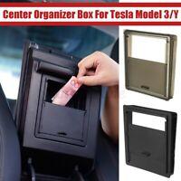 Center Console Organizer Armrest Hidden Storage Box For Tesla Model 3/Y Filler