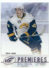 07-08 UPPER DECK ICE ROOKIE RC #159 MIKE WEBER 294/999 SABRES *48013