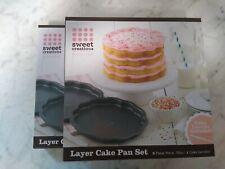 Sweet Creations Scalloped Layer Cake Pan Set (2 Sets)
