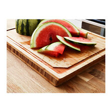 Butchers Block Chopping Board Bamboo 45cm x 36cm Heavy Duty Kitchen Fruit - New