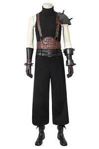 Final Fantasy FF7 Cloud Strife Cosplay Costume Outfit Uniform Boots Full Set Lot