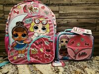"""LOL SURPRISE! 16"""" Girls Backpack And Matching Lunchbox  **NEW**"""