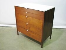 Early Vintage 1950's  Florence Knoll 5 Drawer Walnut Dresser w/ Laminate Top