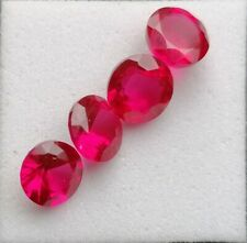 4 synthetische Rubine - 3,80 Karats
