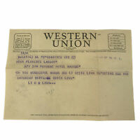 Vintage 1940s Western Union Telegram Soldier To Woman