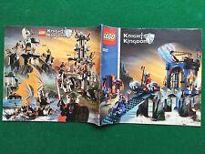 (Q61 CATALOGO montaggio LEGO 8822 KNIGHTS KINGDOM 2006 CASTELLO prospekt KATALOG