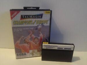 CHAMPIONS OF EUROPE für Sega Master System OVP (ohne Anleitung)
