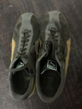 Puma Pele Suede Nyc 75 Indoor Casual Soccer Shoes Army green And Yellow Size 14