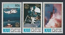 1979 NIUE 1st MOON LANDING 10th ANNIVERSARY SET OF 3 STAMPS FINE MINT MUH/MNH