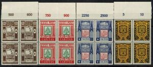 Estonia 1938, Sc B36-B39, BLOCK 4, MNH, Emblems. CV $160.00