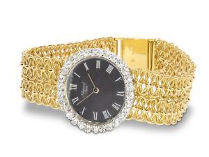 Chopard 18k Gold & Diamond (3ct) Watch 1968, Fully Restored & Serviced, Orig Box