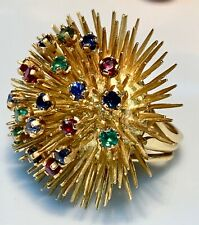Magnificent Ring Gold 18 Carat - Emerald/Sapphire/Ruby - 22.43 G