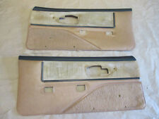 91 Firebird GTA Trans Am Dlxe Door Panels Tan Cloth PM PW LH RH Pair 0130-10