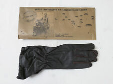WW2 Wehrmacht Fallschirmjäger Leder Handschuhe braun FJ Luftwaffe Gr.IV (11-12)