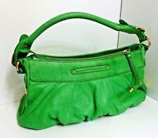 GUC+ B Makowsky Green Texture Leather Medium Shoulder Handbag Golden Hardware MS
