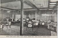 .EARLY 1900's R.M.S. ORSOVA POSTCARD. 1ST CLASS MUSIC ROOM