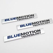 Emblem-Logo BLUEMOTION TECHNOLOGY für VW Golf Passat Polo metallische 3D Silber