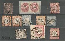 Pr Vor / LIEGNITZ Nr.-Stpl. 852 auf vollrand 2a, je Ra2 auf Briefstück m. Paar