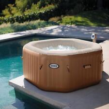 Intex purespa 4 personne bulle octogonale gonflable portable hot tub spa jacuzzi