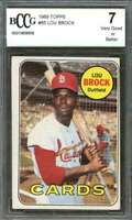1969 topps #85 LOU BROCK st louis cardinals BGS BCCG 7