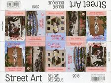 Belgium 2018 MNH Street Art 10v M/S Graffiti Stamps