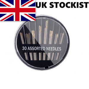 30 x Hand Sewing Needles - Embroidery Craft Quilt Mending Sew - UK SELLER