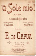Partition Chant & mandoline années 1900 - 'O Sole Mio ! - DI CAPUA  en français