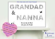 Fête Mères d/'impression a4 Cadeau Mum Maman Nana Grand-mère notre histoire d/'amour Nan personnalisé