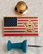 New listing United States Secret Service Patriotic American Flag Lapel Pin Badge