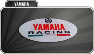 1 Adhesive Tuning Fork Yamaha 3D Resin Red White Tmax Xmax R1 R6 MT Racing Big