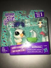 LITTLEST PET SHOP SERIES 1 MOM AND BABY PELICAN BLANCHE & DAISY #1-87 #1-88 HTF