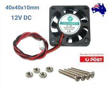 Case Fan 12V 0.1A 40mm x 40mm x10mm Brushless 4010 PC Fan cooler 2 pin+bolts inc