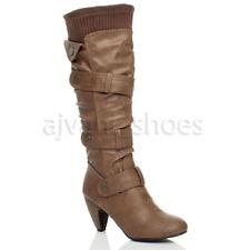 Stivali e stivaletti da donna cubano con tacco alto (8-11 cm) marrone