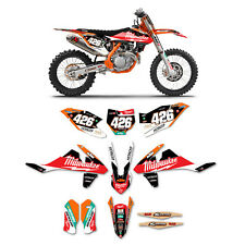 2016-2018 KTM SX-SXF 125-450 MILWAUKEE Motocross Kit & Plates Dirt Bike Graphics