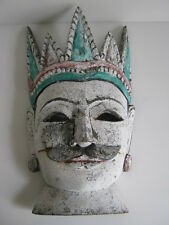 Antique Burmese wood hand carved mask