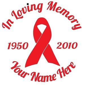 In Memory RIP Rest in Peace Loving Vinyl Car Laptop Sticker Decal