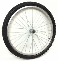 """Complete 24"""" Front Alloy Bicycle Wheel w/ 1.95"""" Tire - Junior Mountain Bike #M46"""
