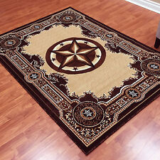 "8x10 (7'6"" x 10'1"") Texas Star Western Cowboy Lodge Brown Area Rug"