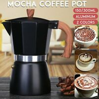 Aluminum Italian Moka Espresso Coffee Maker Percolator Stove Top Pot 3 6 Cup