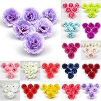 10Pcs Artificial Silk Fake Rose Flowers Head Wedding DIY Bouquet Home Decor 4cm