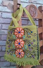 Embroidery Handmade Boho chick wool shoulder bag-massage styles with fringe