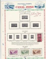 canal zone 1929-49 stamps sheet  ref 10774